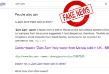 Photo of Is Zam Zam water safe to drink? Google's wrong information