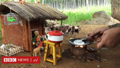 Photo of How does this woman cook in small pots?