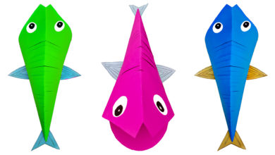 Photo of How To Make Fish With Paper | Art and Craft