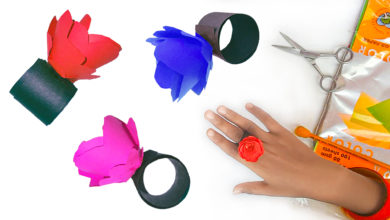 Photo of How To Make Flower Ring With Paper | Art and Craft
