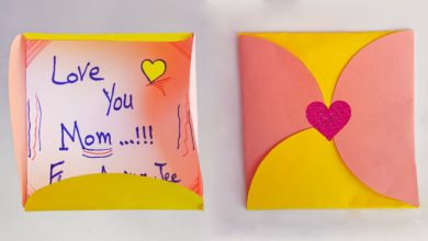 Photo of How to Make I Love You Envelope Gift for Mother | Art and Craft