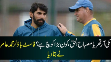 Photo of Muhammad Amir called Mickey Arthur a bigger coach than Misbah-ul-Haq