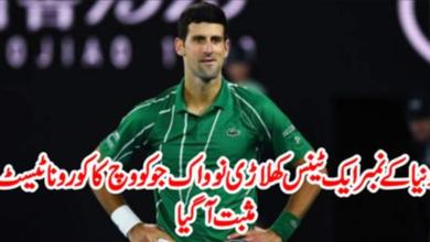 Photo of Novak Djokovic Tested Positive For The Corona Virus – COVID-19